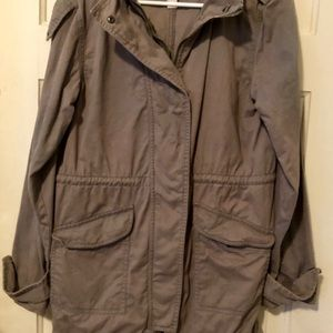 Forever 21 military hooded utility jacket SMALL